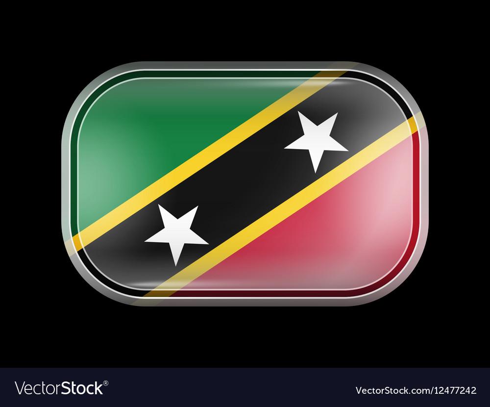 Flag of Saint Kitts and Nevis Rectangular Shape vector image