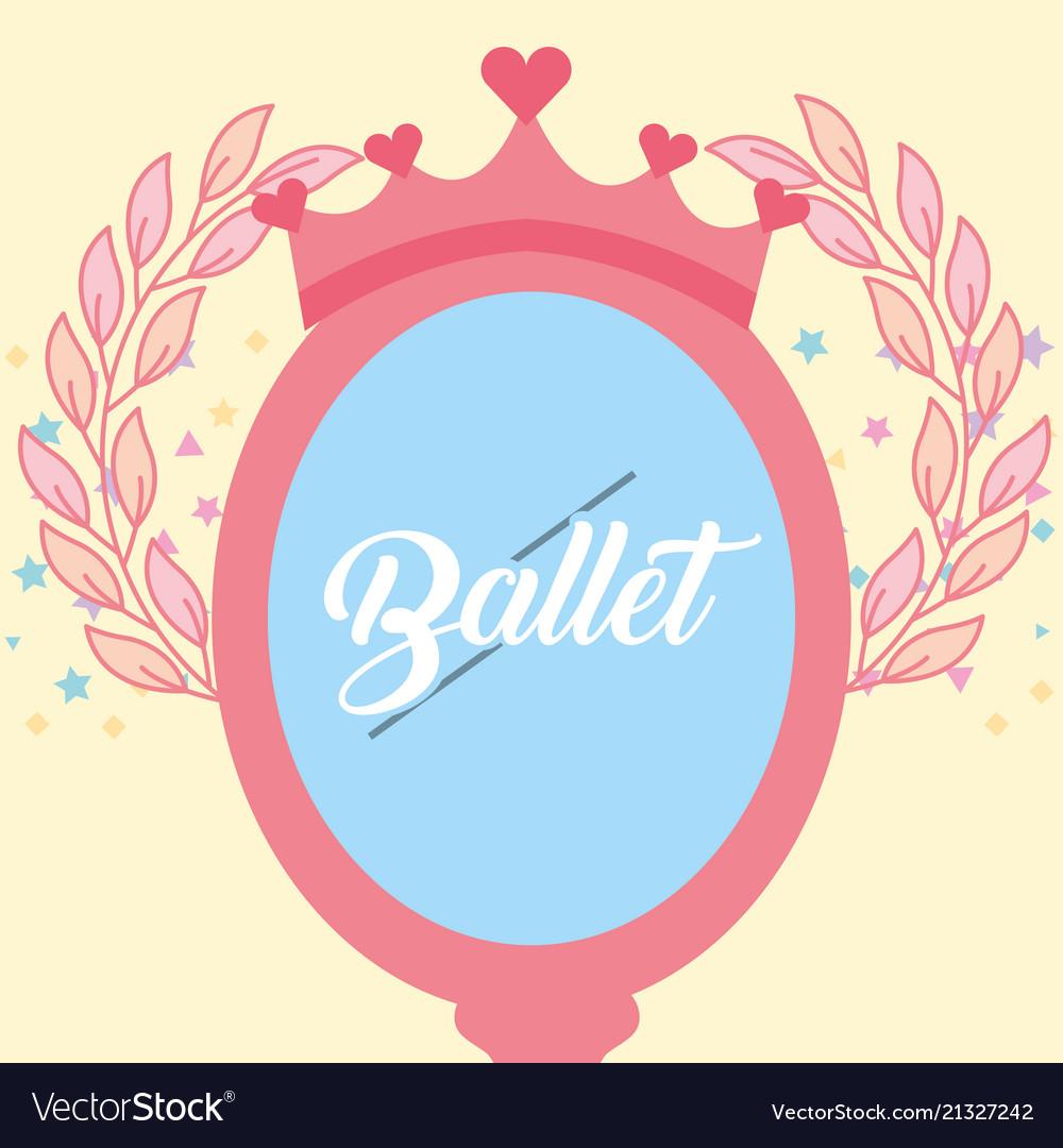 Pink mirror crown jewelry ballet decoration