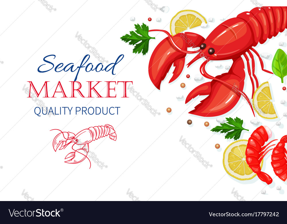 Seafood healthy food cooking concept