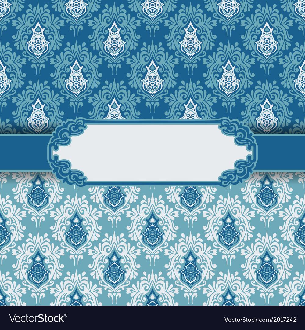 Vintage greeting card frame background vector image