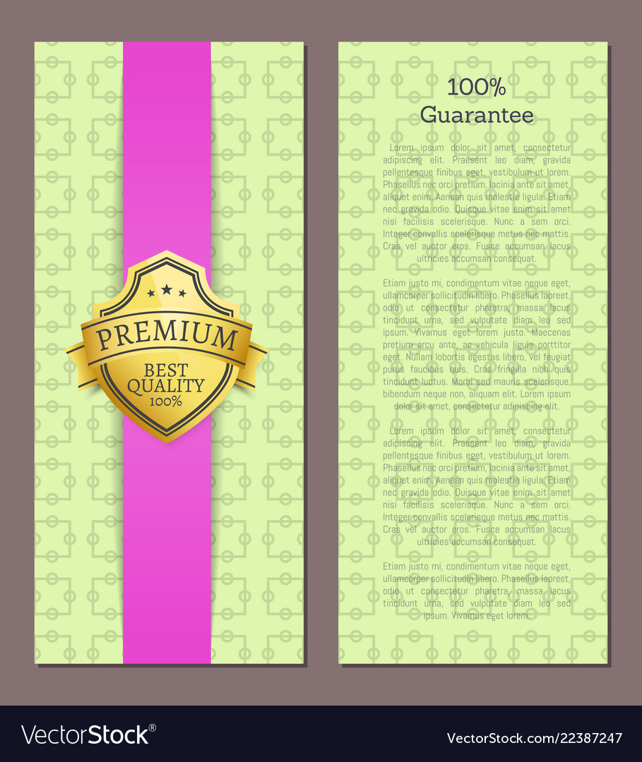 100 guarantee seal with text sample golden label