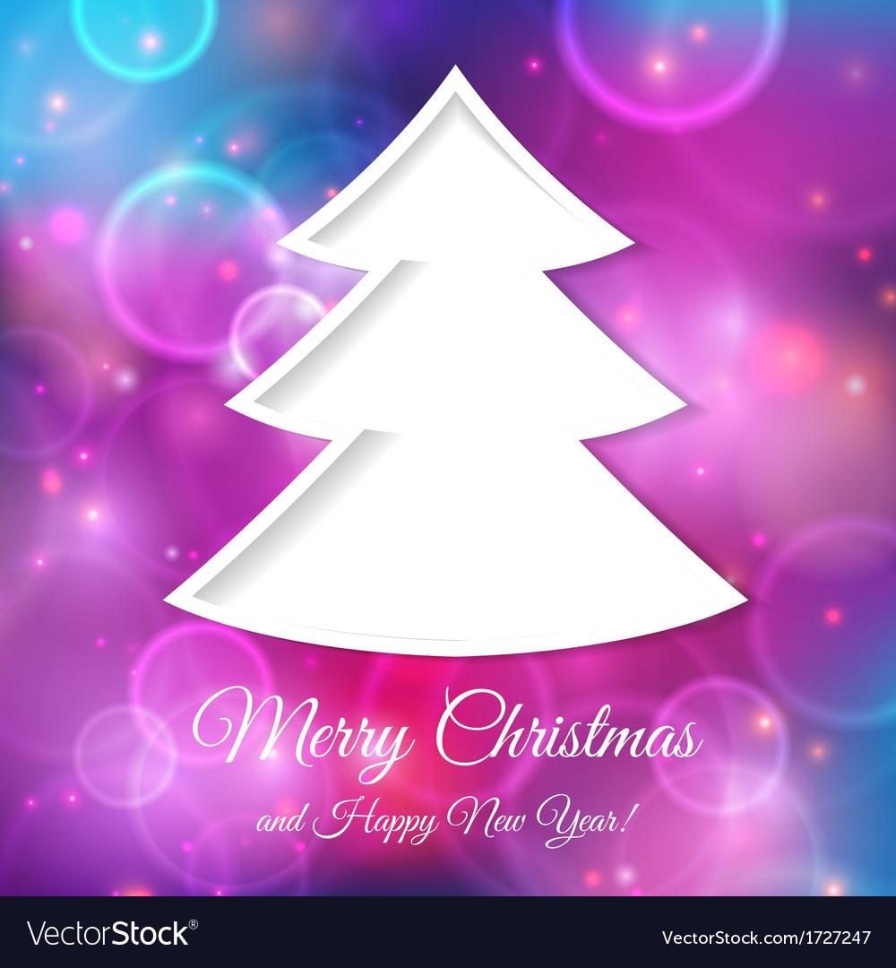 Abstract tree for Christmas greetings vector image