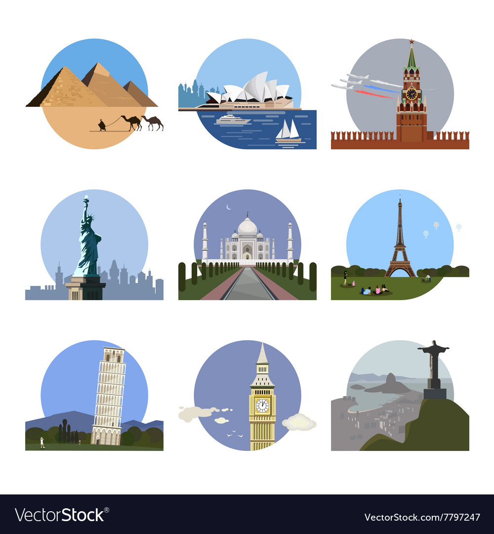 Countries of the world logo design template