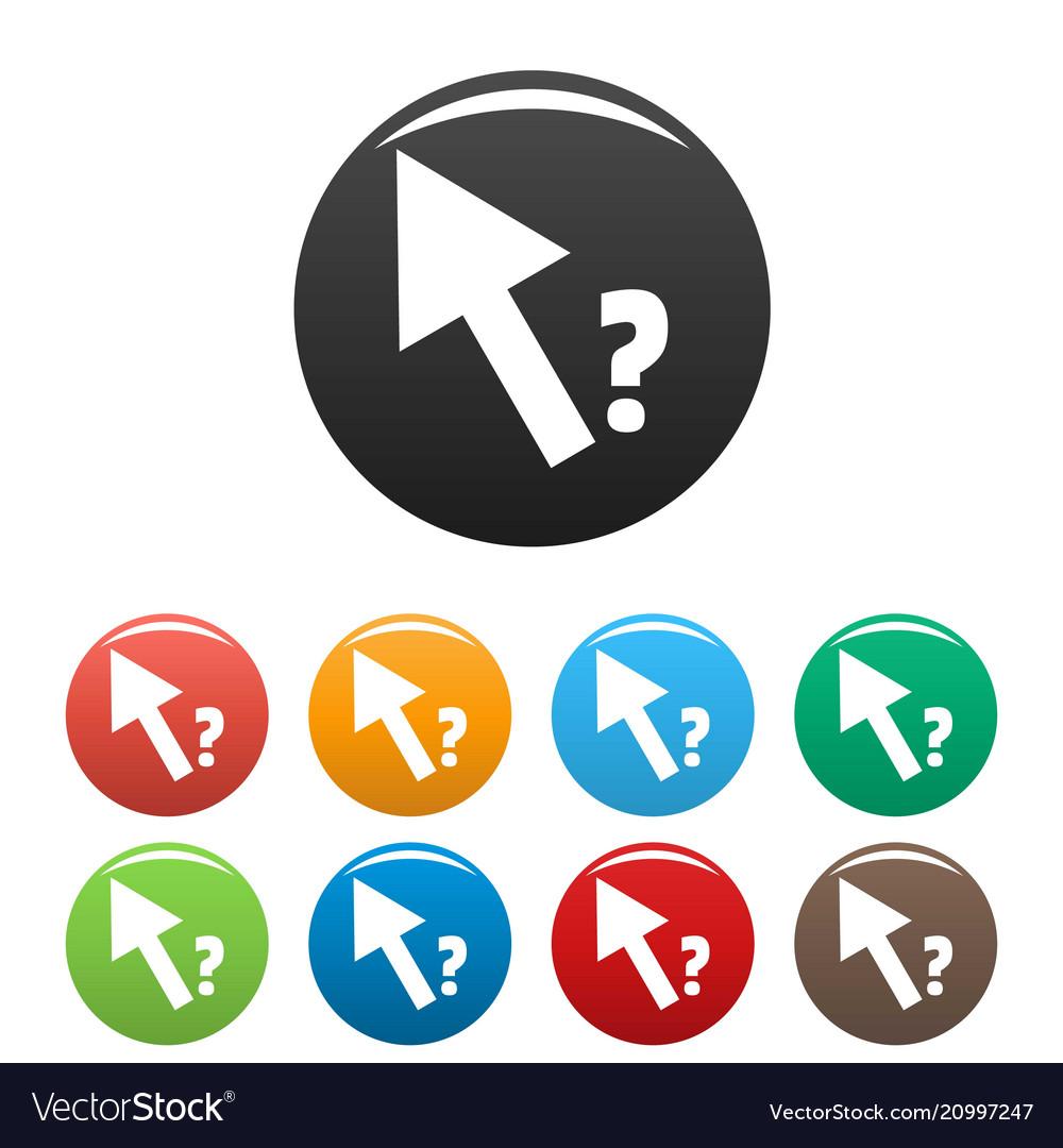 Cursor question icons set color