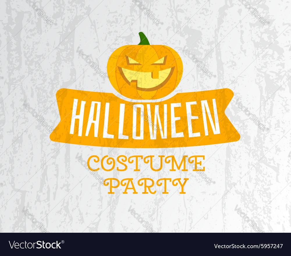 happy halloween costume party flyer template vector image