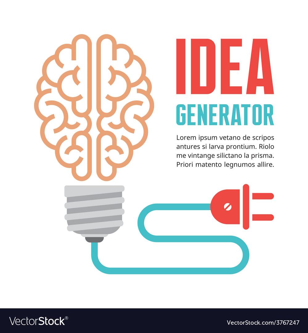 Human brain in light bulb