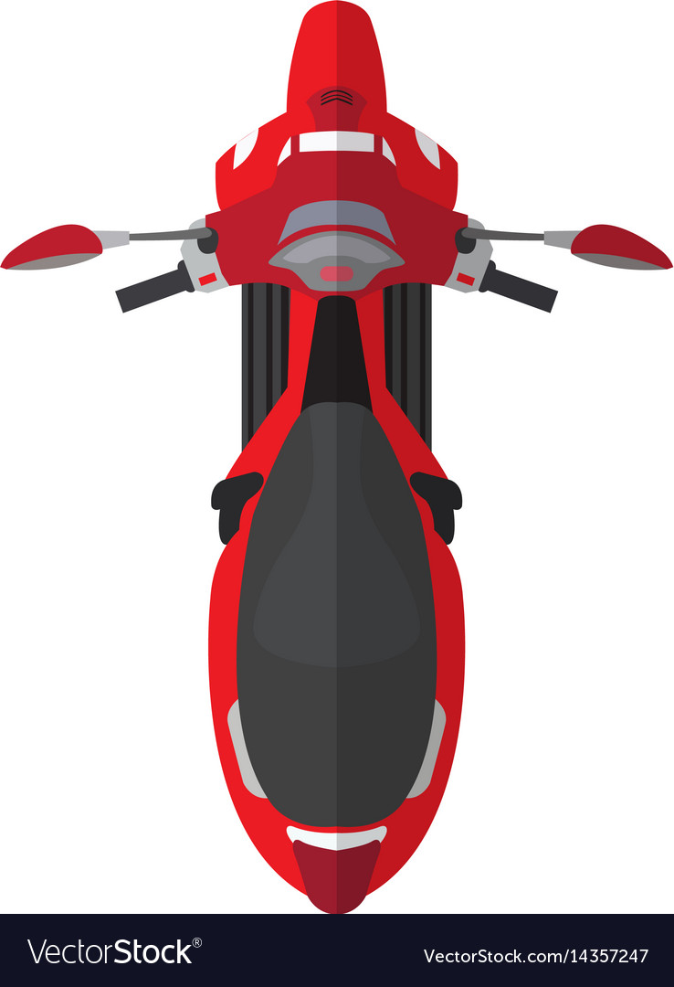motorcycle top view royalty free vector image vectorstock vectorstock