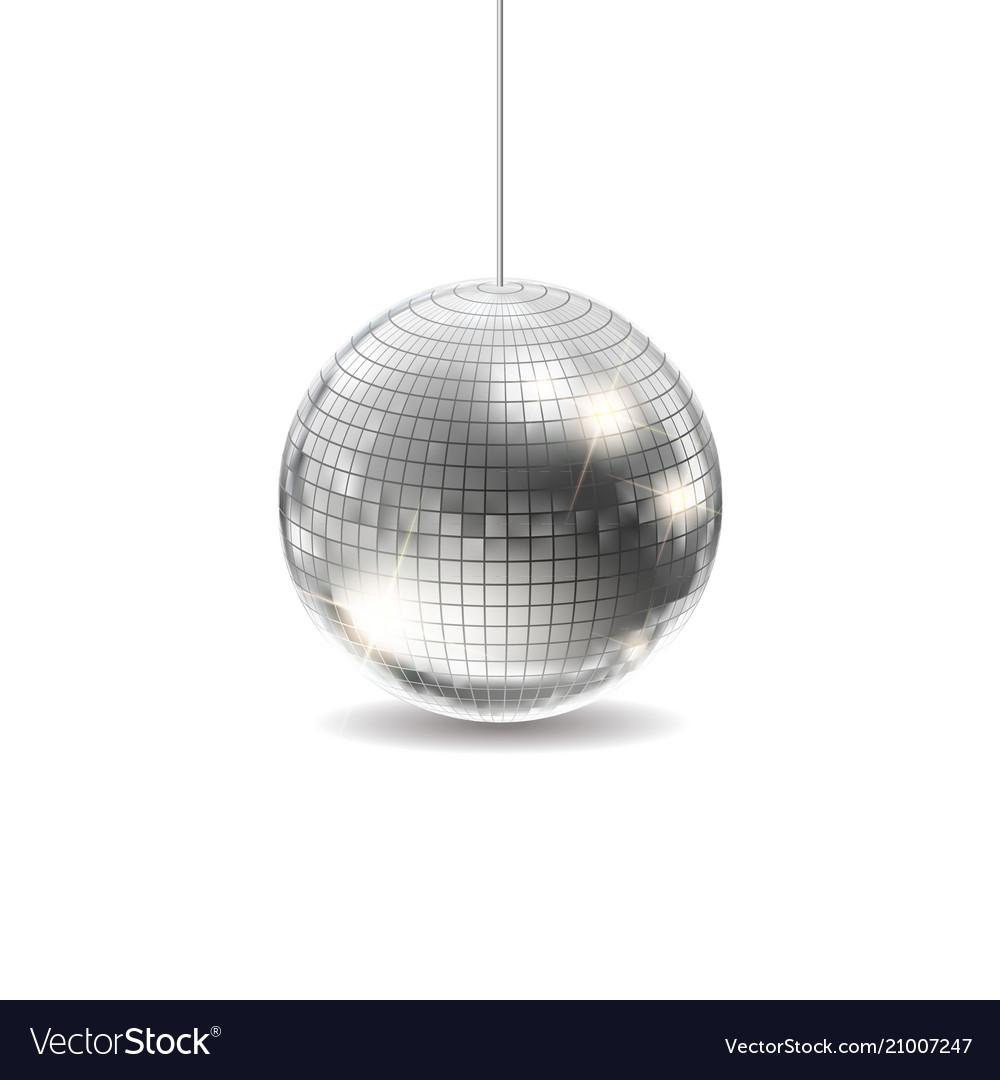 Silver disco ball