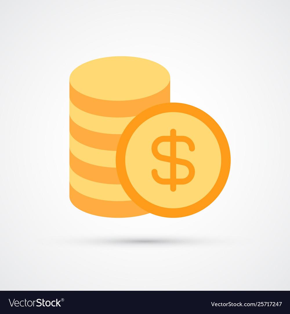 Stack coins trendy symbol