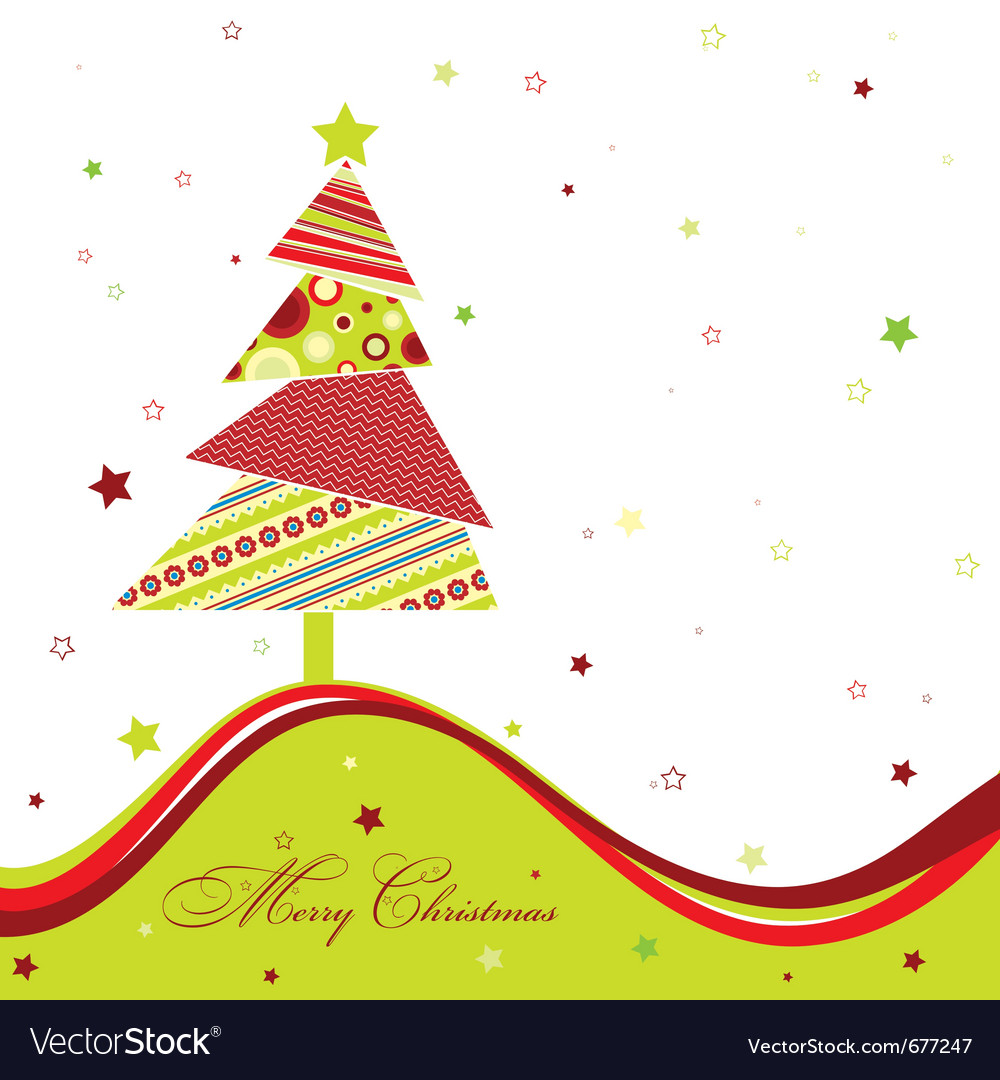 Template Christmas Greeting Card Royalty Free Vector Image - Christmas greeting card template