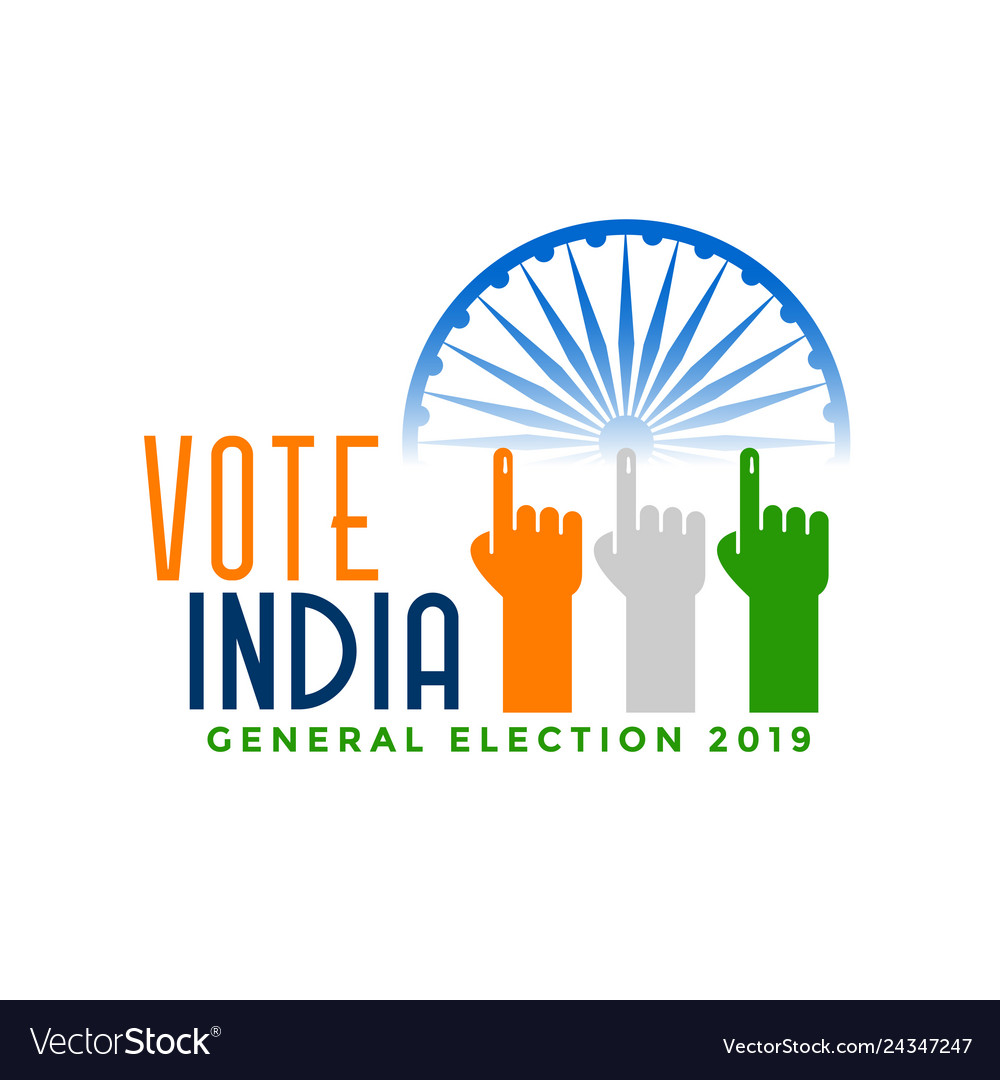 Vote india general election with finger hand