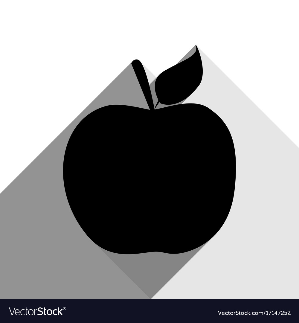 apple sign black icon with royalty free vector image