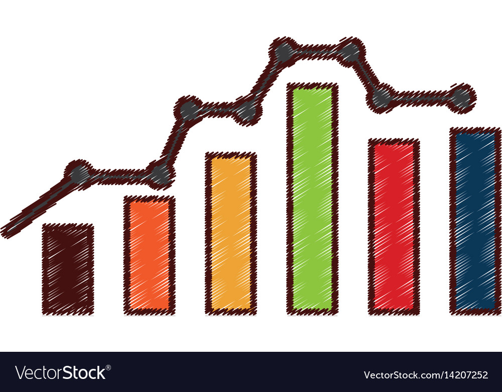 Bars statistics isolated icon