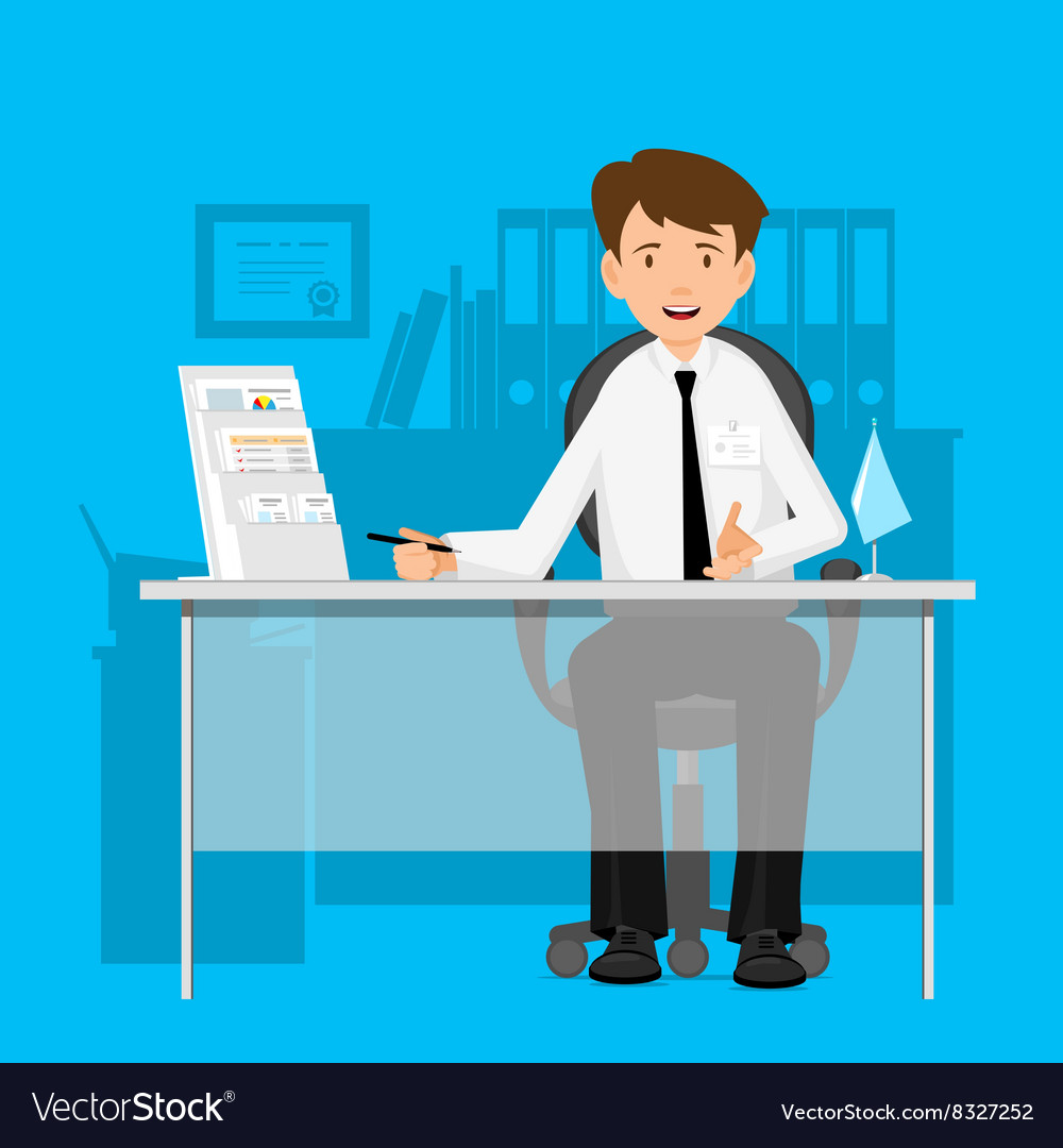 Businessman manager consultant at work