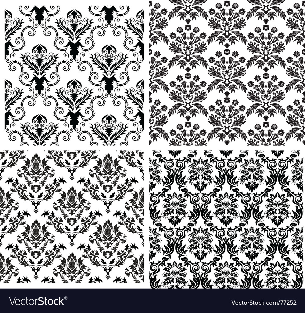 Damask backgrounds set