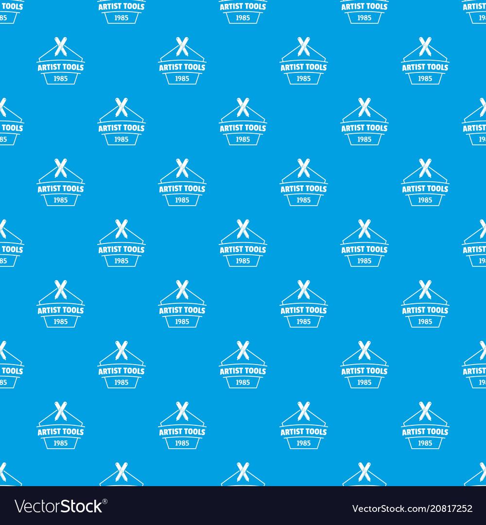 Designer tool pattern seamless blue