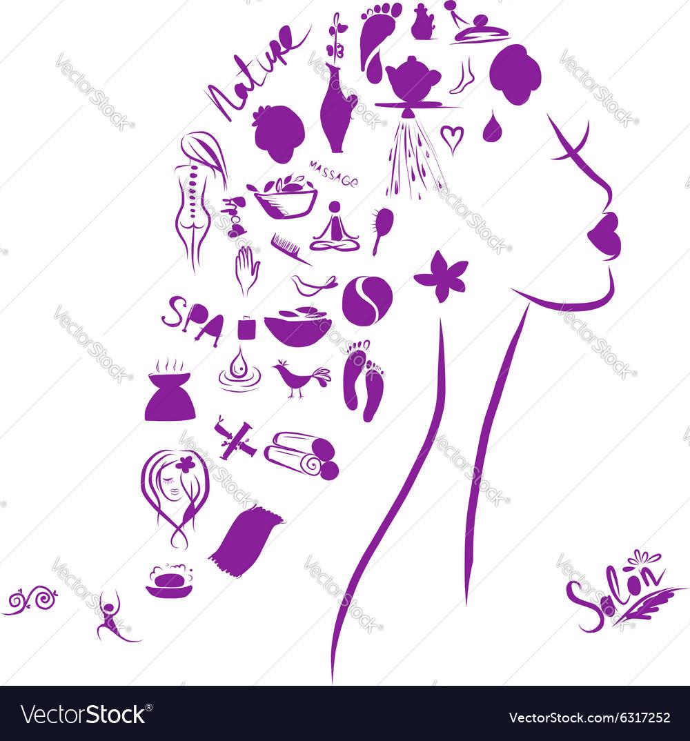 Female head spa concept for your design