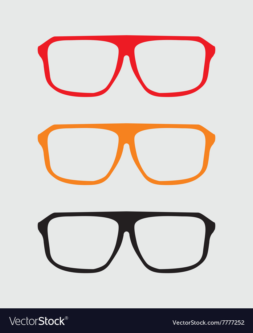 Glasses set with black yellow and red holder