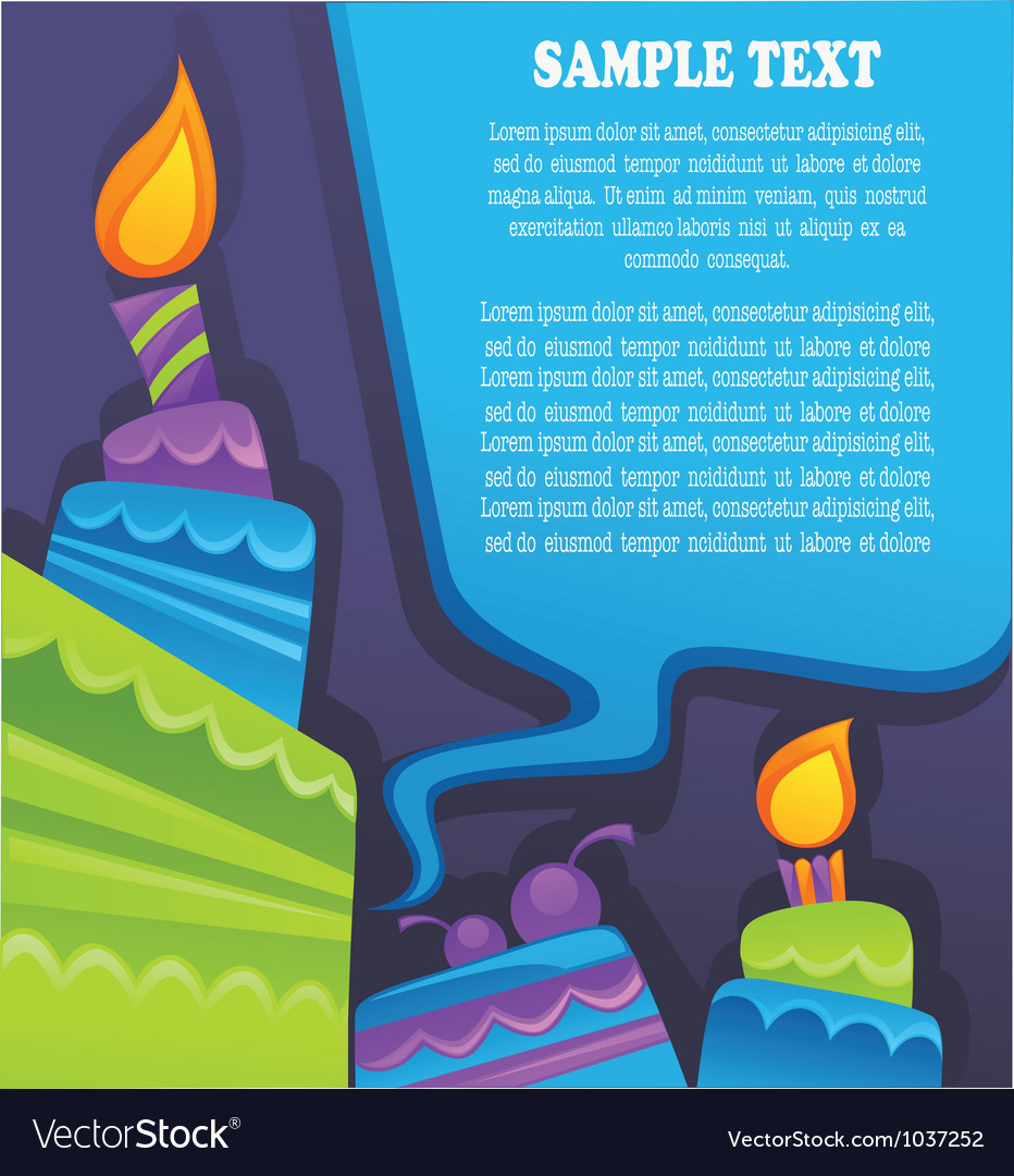 Image of birthday cakes candle and speech