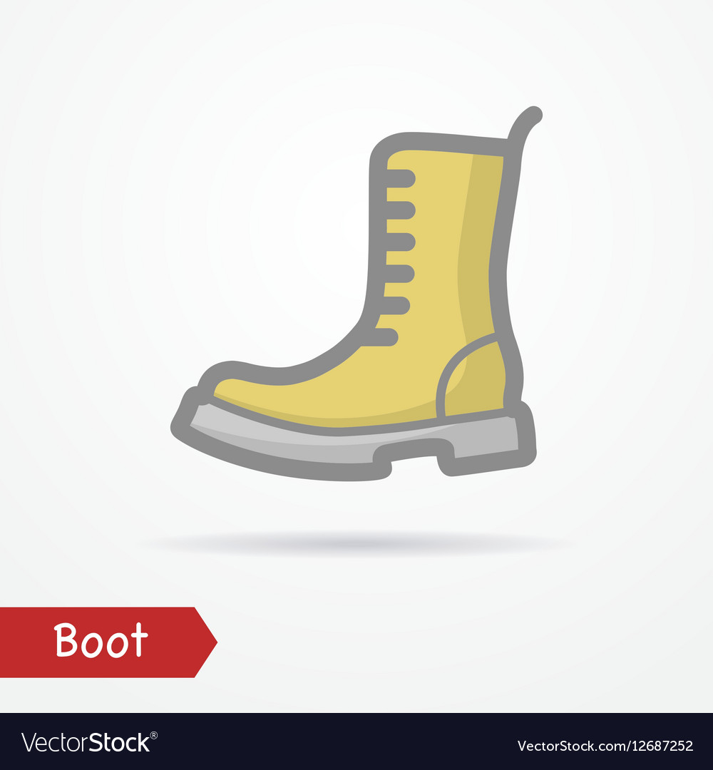 Military boot icon