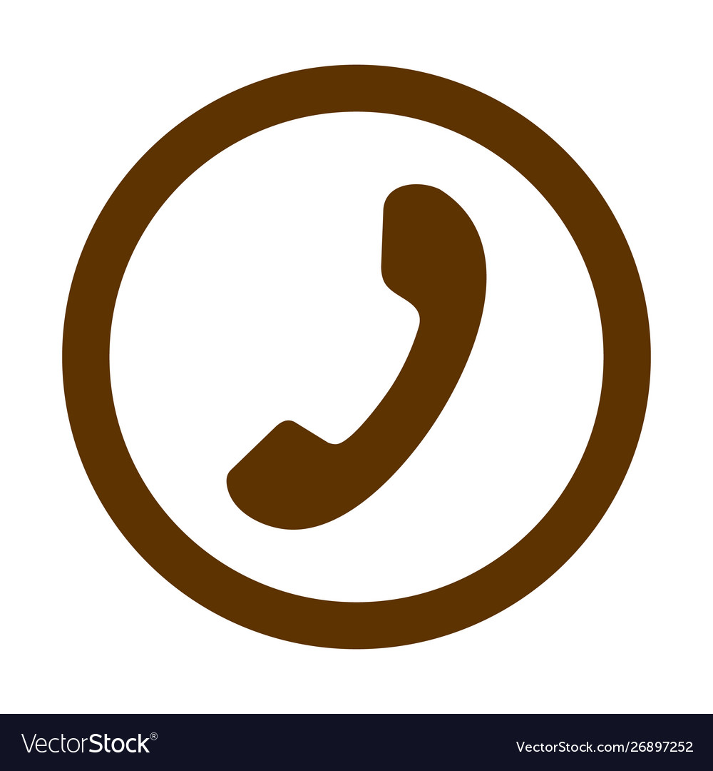 Phone thin line icon phone icon in circle