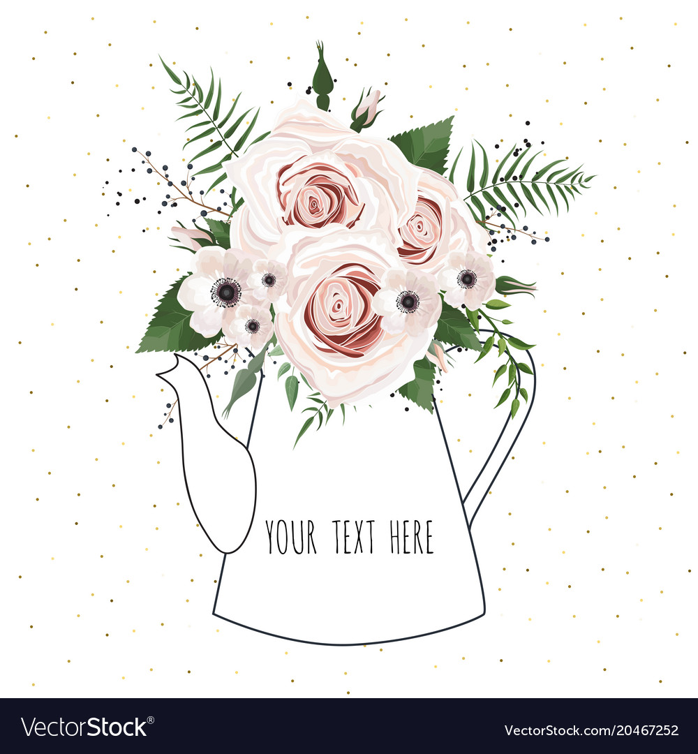 Spring flowers bouquet for vintage card Royalty Free Vector