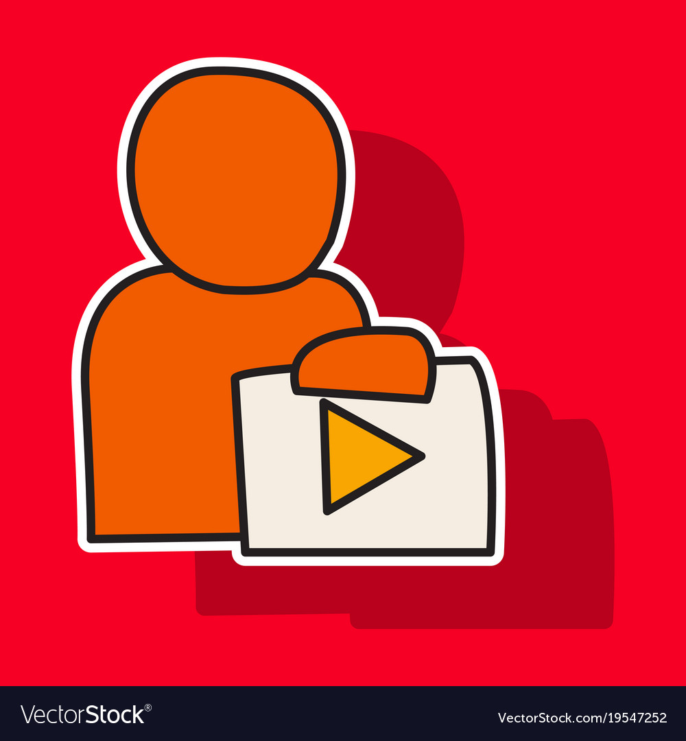 Sticker unusual look play logo icon buttonyoutube