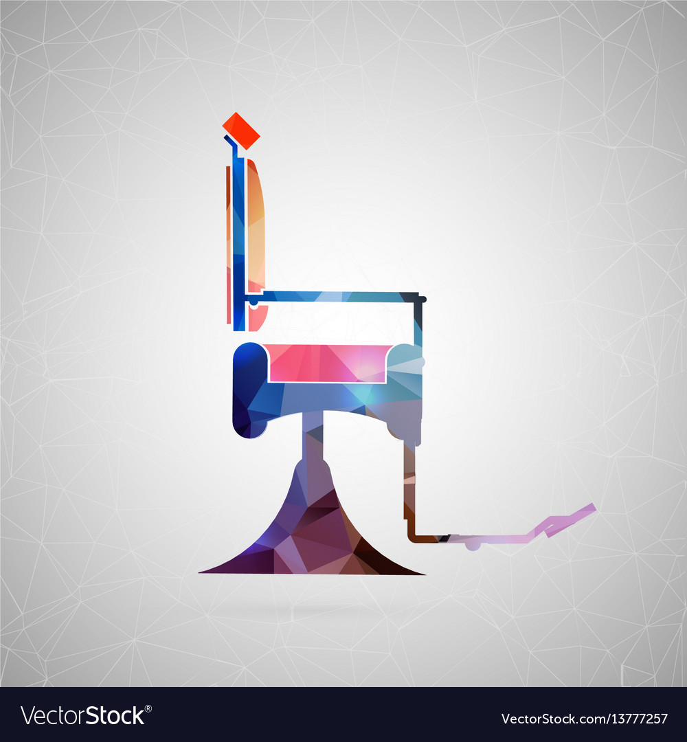 Abstract creative concept icon of barber vector image