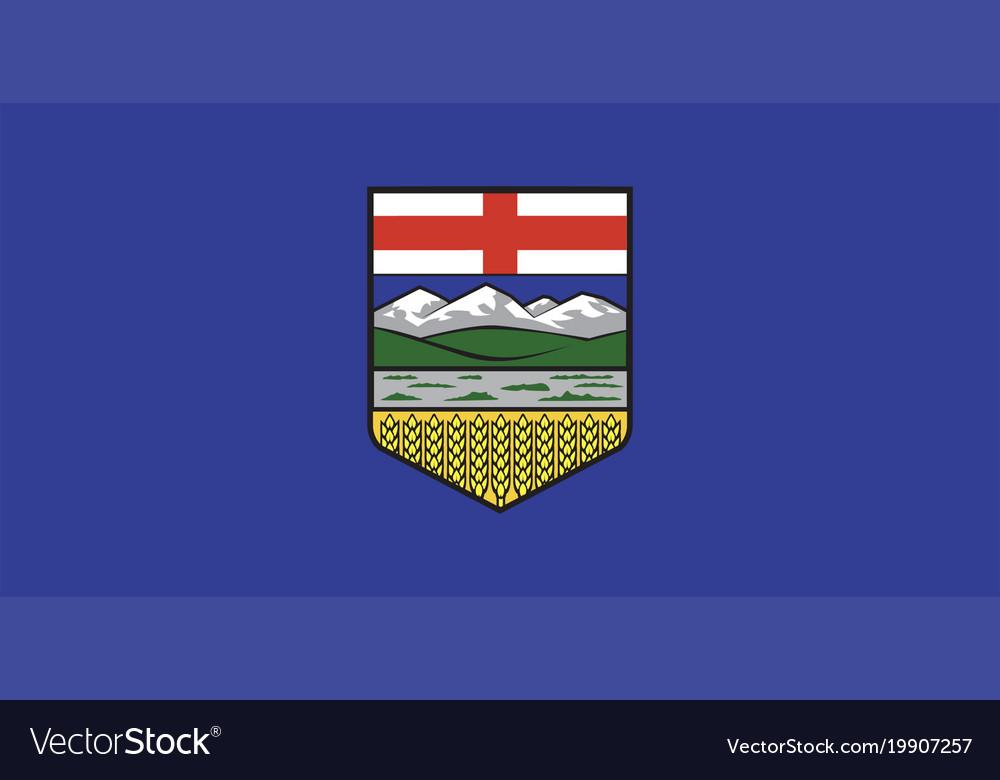 Alberta flag vector image