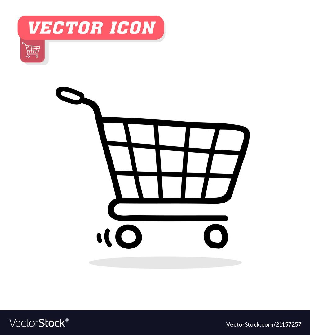 Cart icon white background image