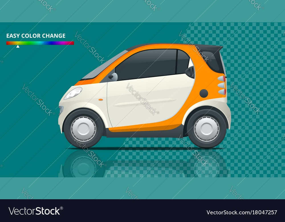 Compact Smart Car Small Hybrid Vector Image