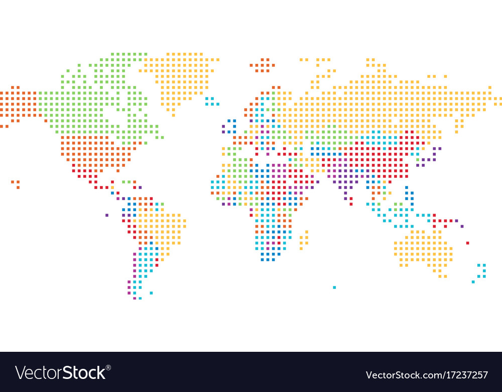 Dotted world map of square dots royalty free vector image dotted world map of square dots vector image gumiabroncs