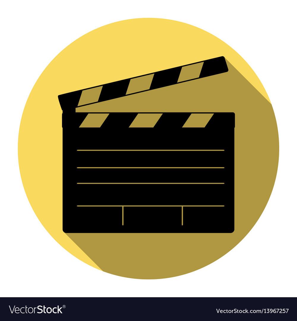 Film clap board cinema sign flat black