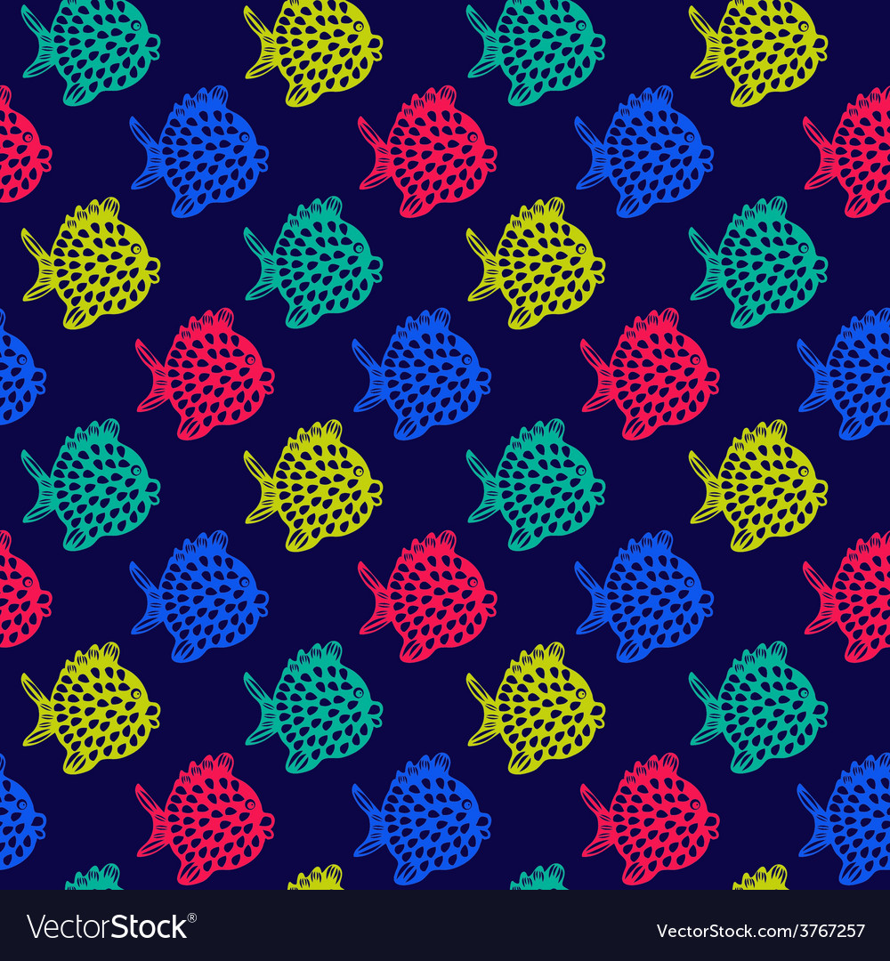 Pattern of fish Decorative Colorful Cute