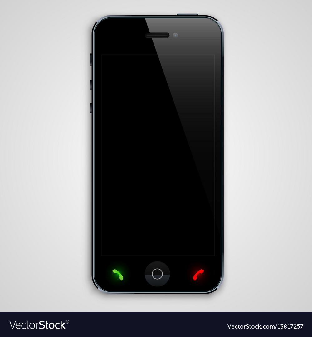 Phone with a black screen