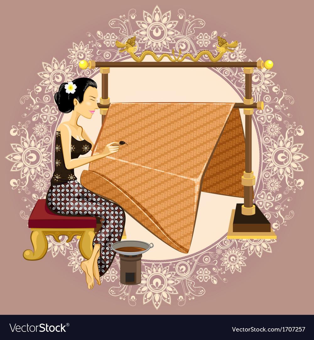 Traditional Indonesian Batik vector image