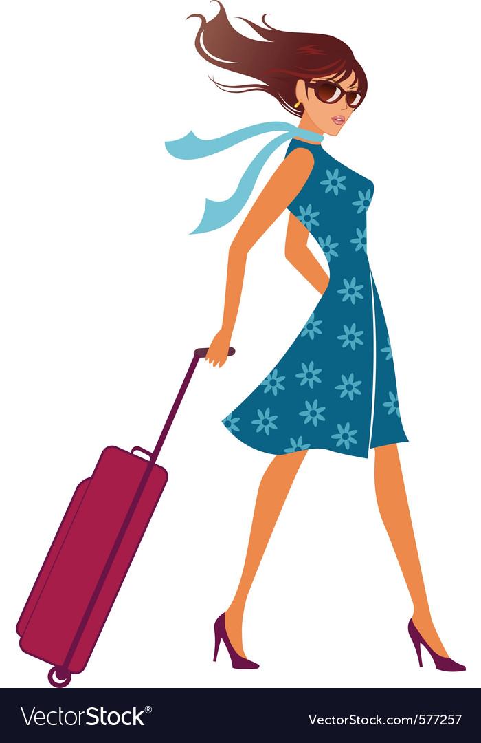 travelling woman royalty free vector image vectorstock rh vectorstock com vector manager vector manipulation