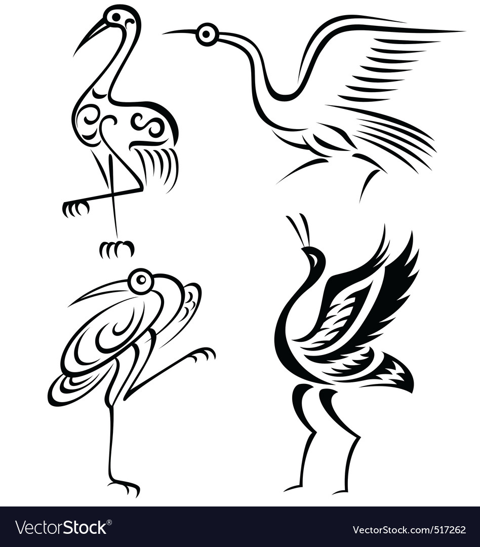 Bird crane illustration