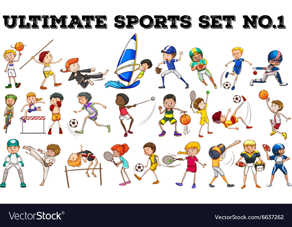 Boys and girls doing different sports