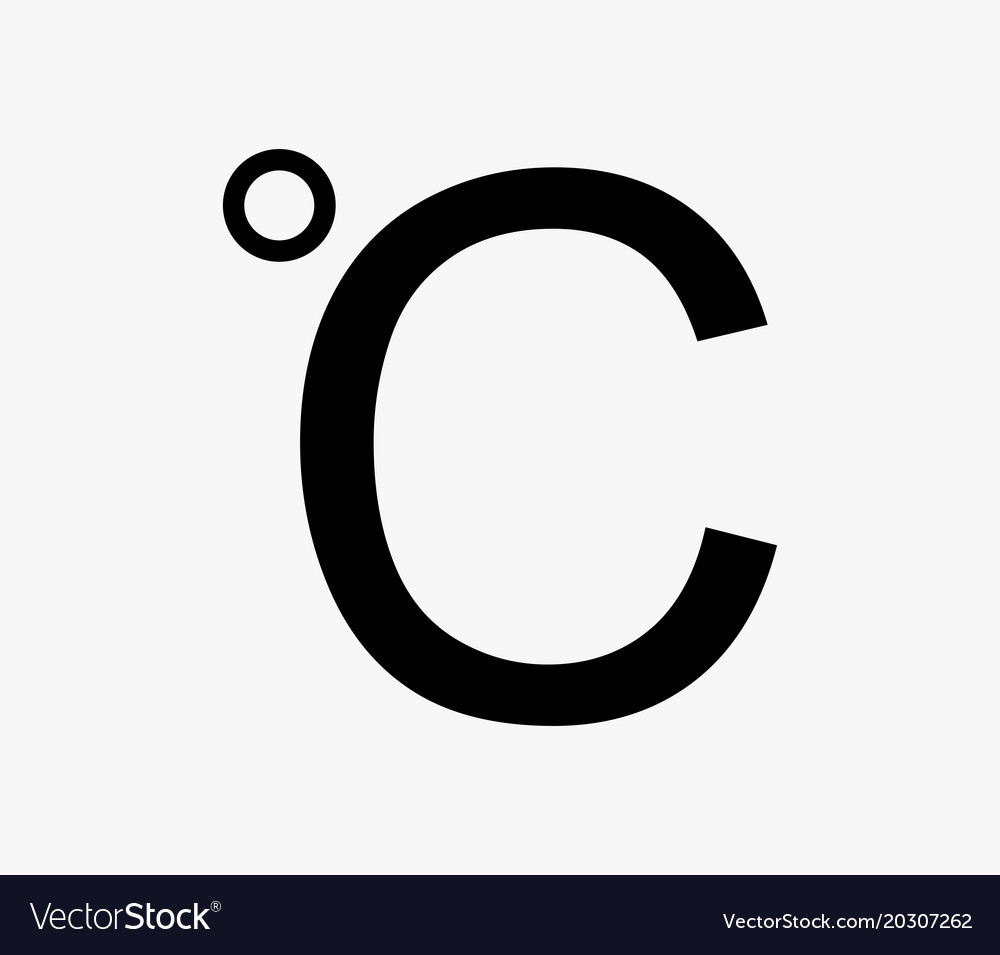 Celsius Icon Royalty Free Vector Image Vectorstock