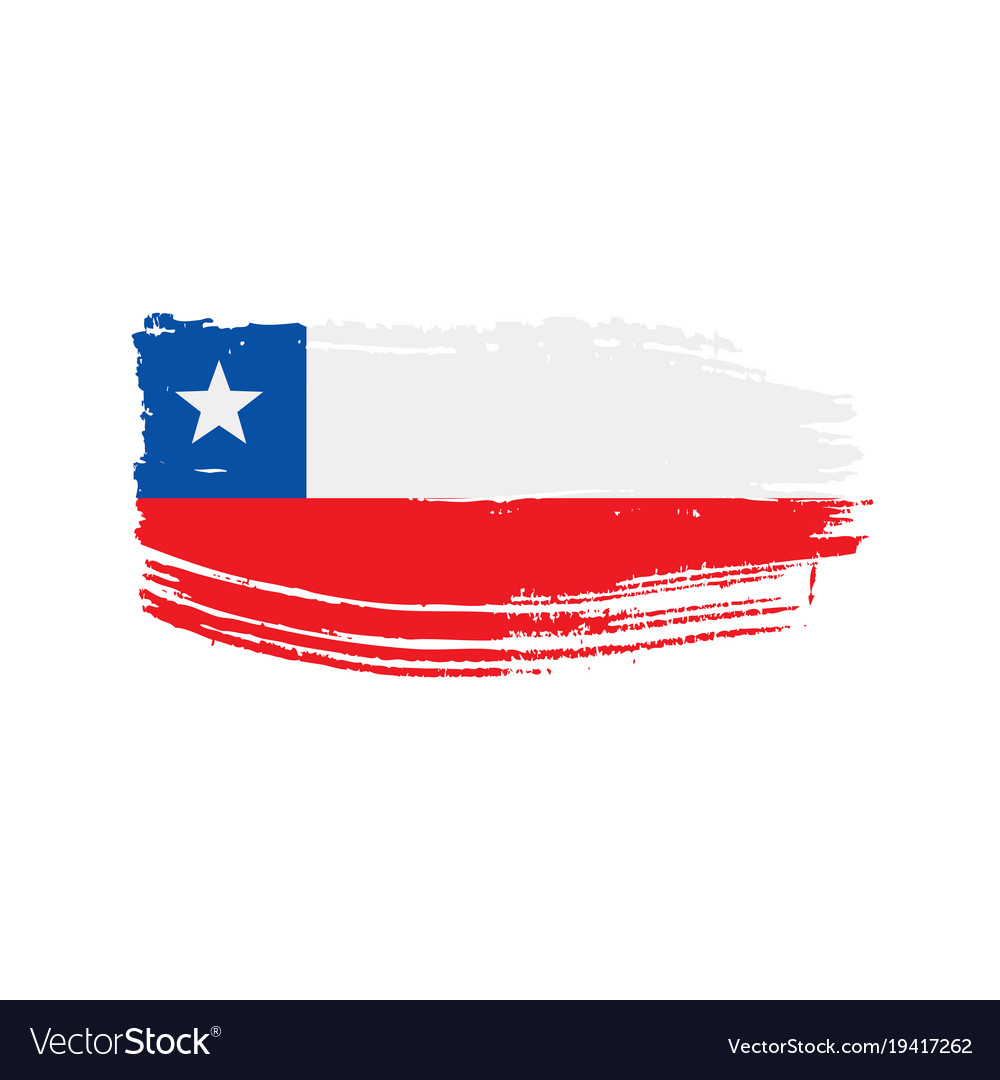 chile flag royalty free vector image vectorstock