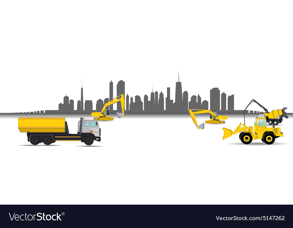Construction Machinery in the City