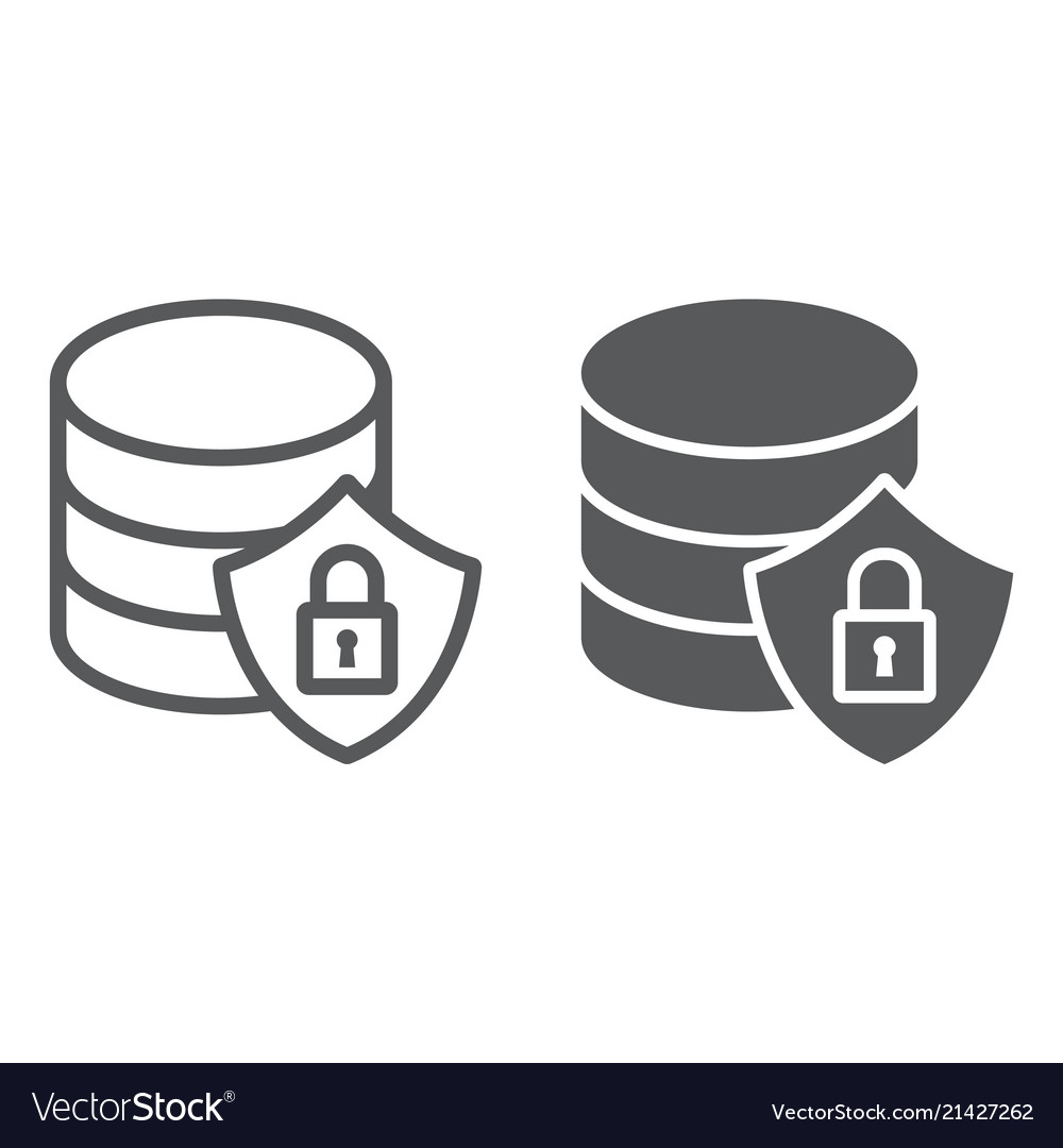 Database protection line and glyph icon