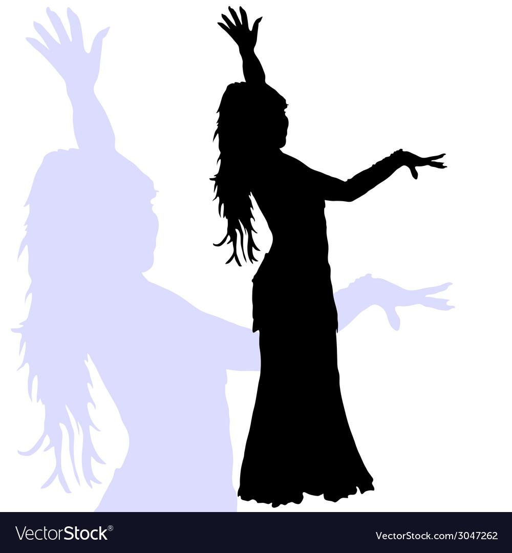 flamenco dance woman silhouette royalty free vector image rh vectorstock com woman silhouette vector ai woman silhouette vector eps