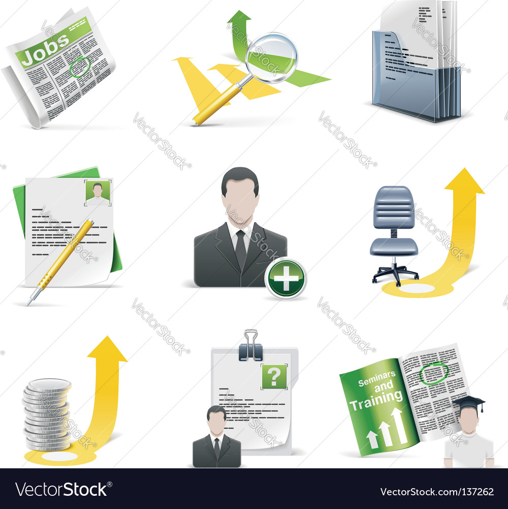 Recruiting icon set vector image