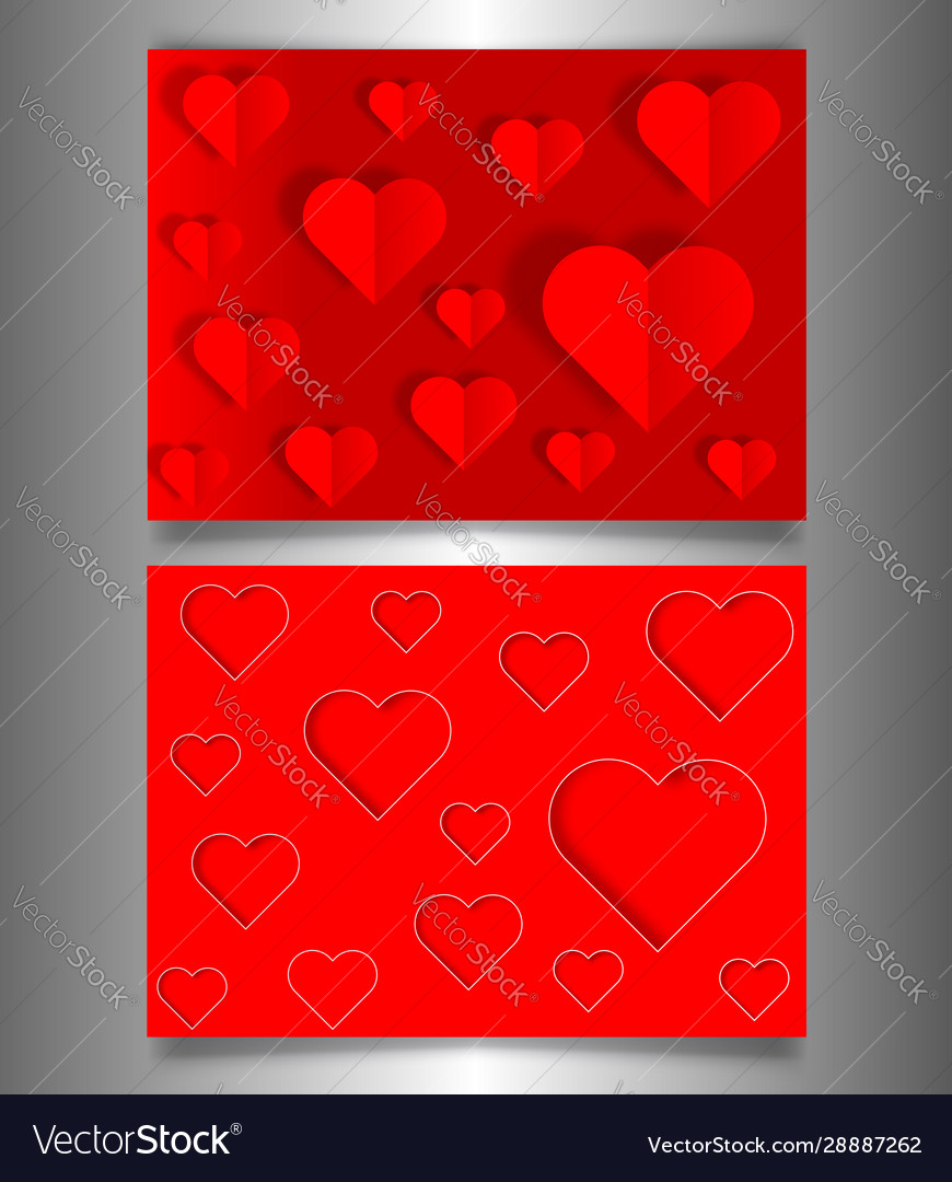Set valentines day or mothers day red banners