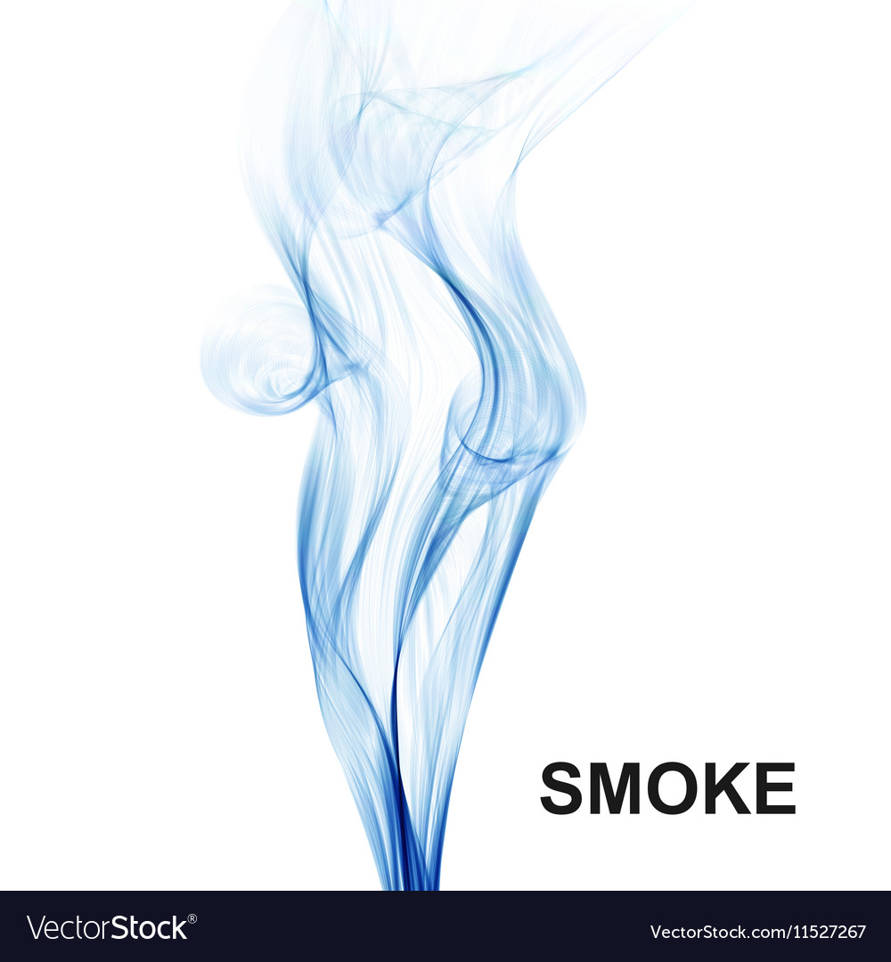 Abstract background Blue smoke waves on white vector image