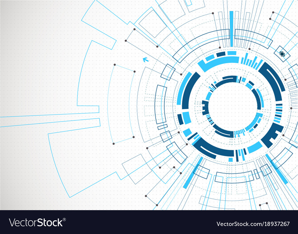 Abstract blue colored technological background