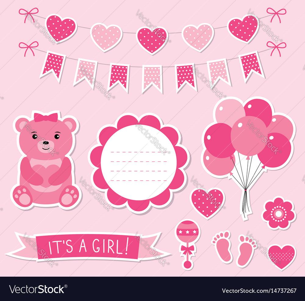 Baby girl arrival set