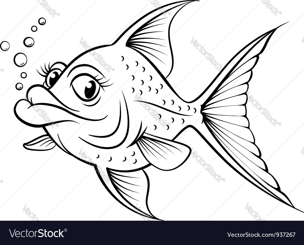 It's just a graphic of Amazing Fish Cartoon Drawing